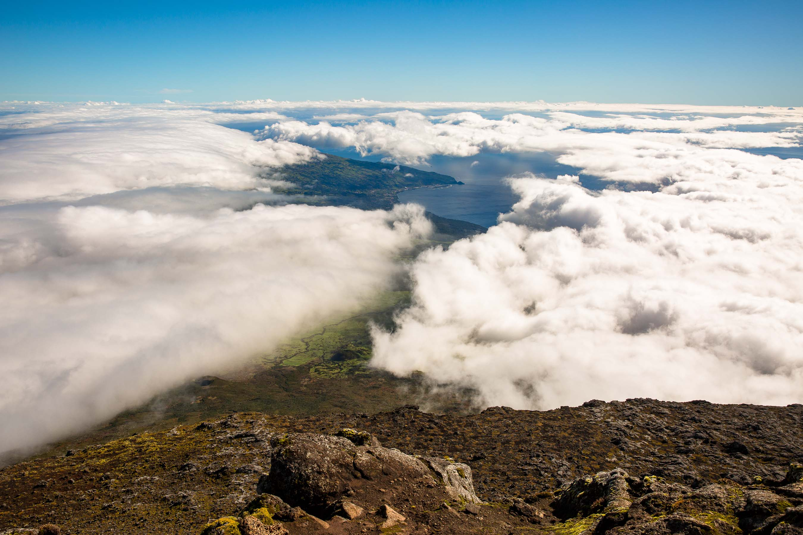 Mount Pico summit above the clouds