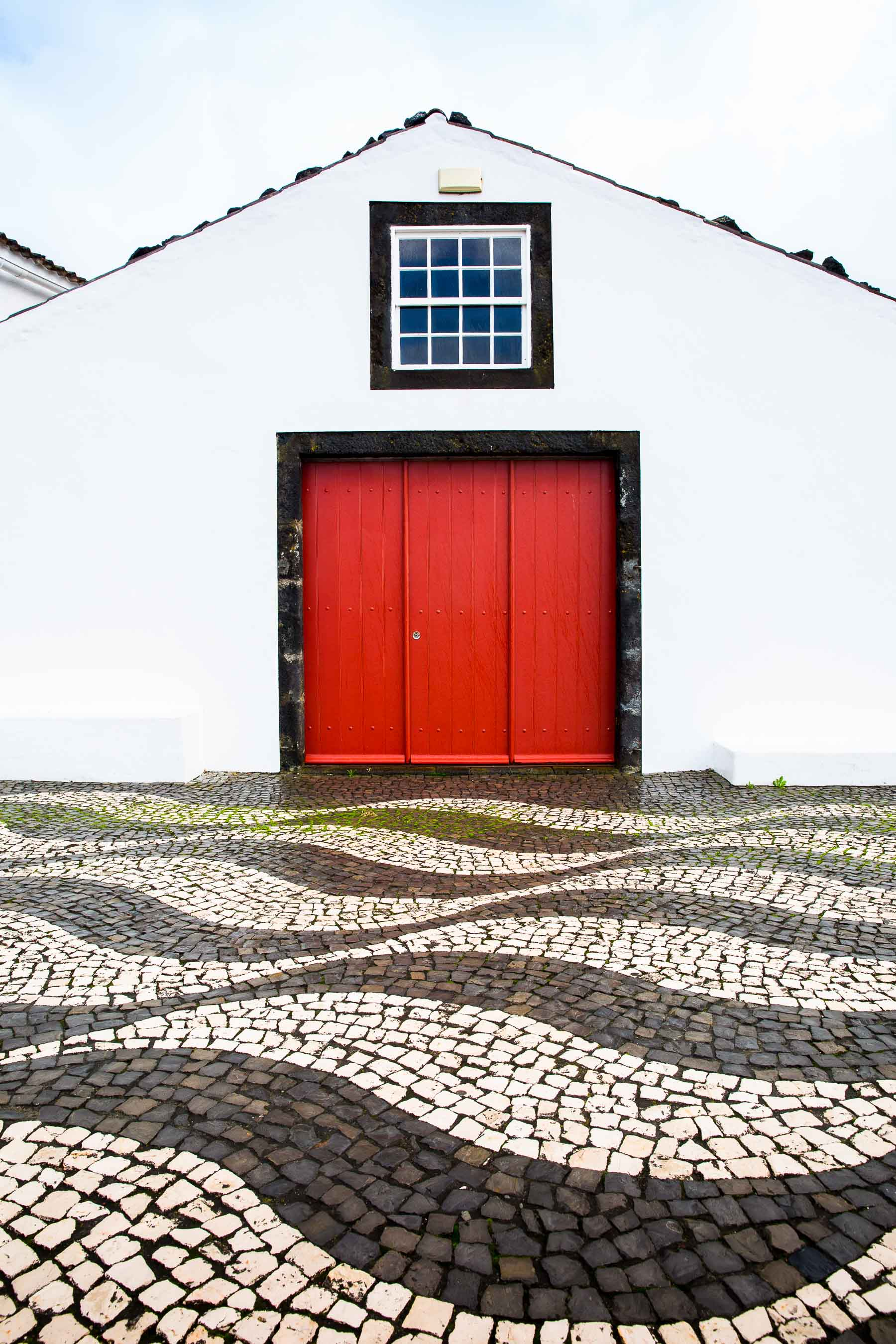 Red doorway Lajes do Pico, Azores