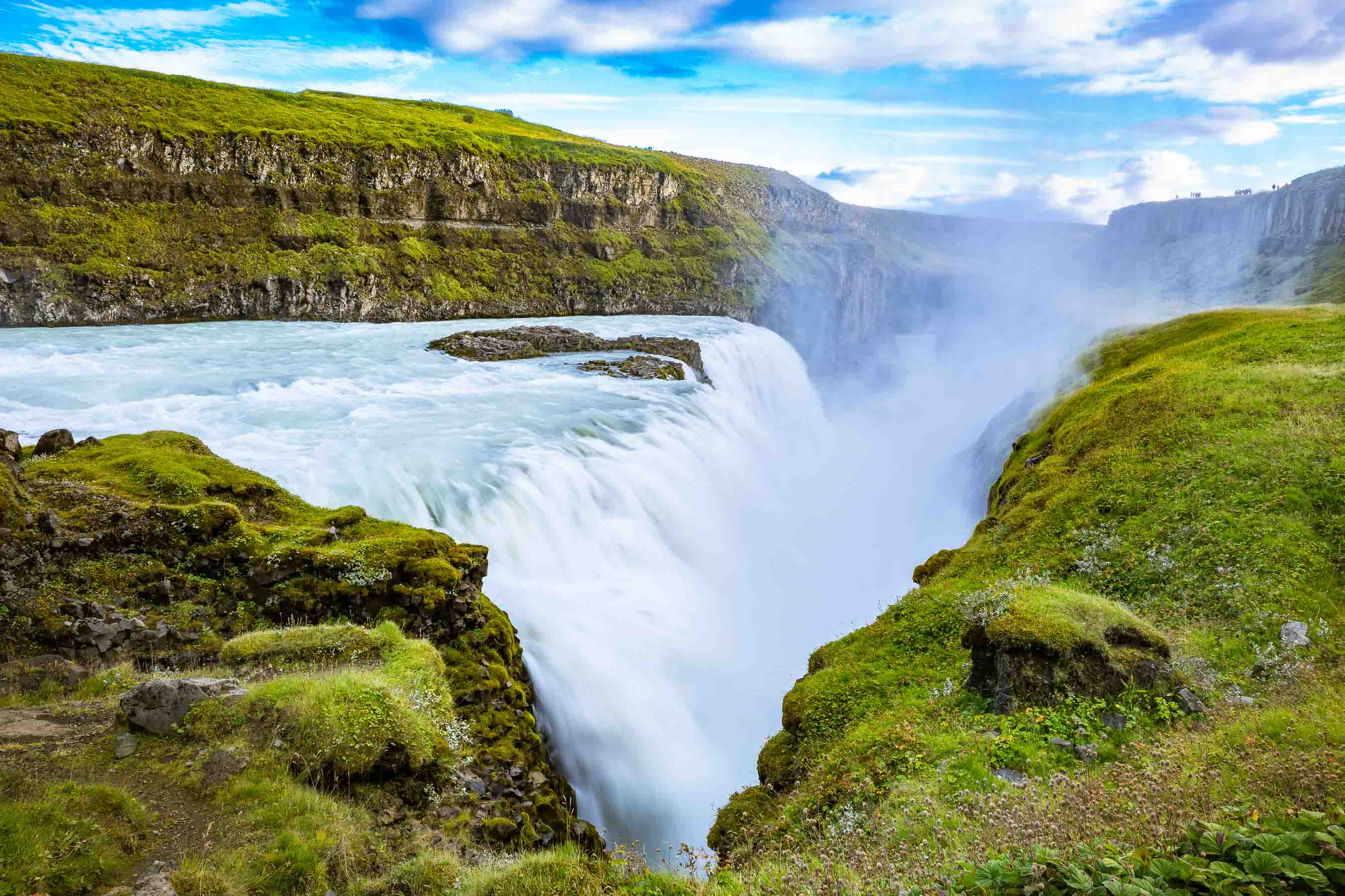 Gullfoss waterfall, on Iceland's Golden Circle