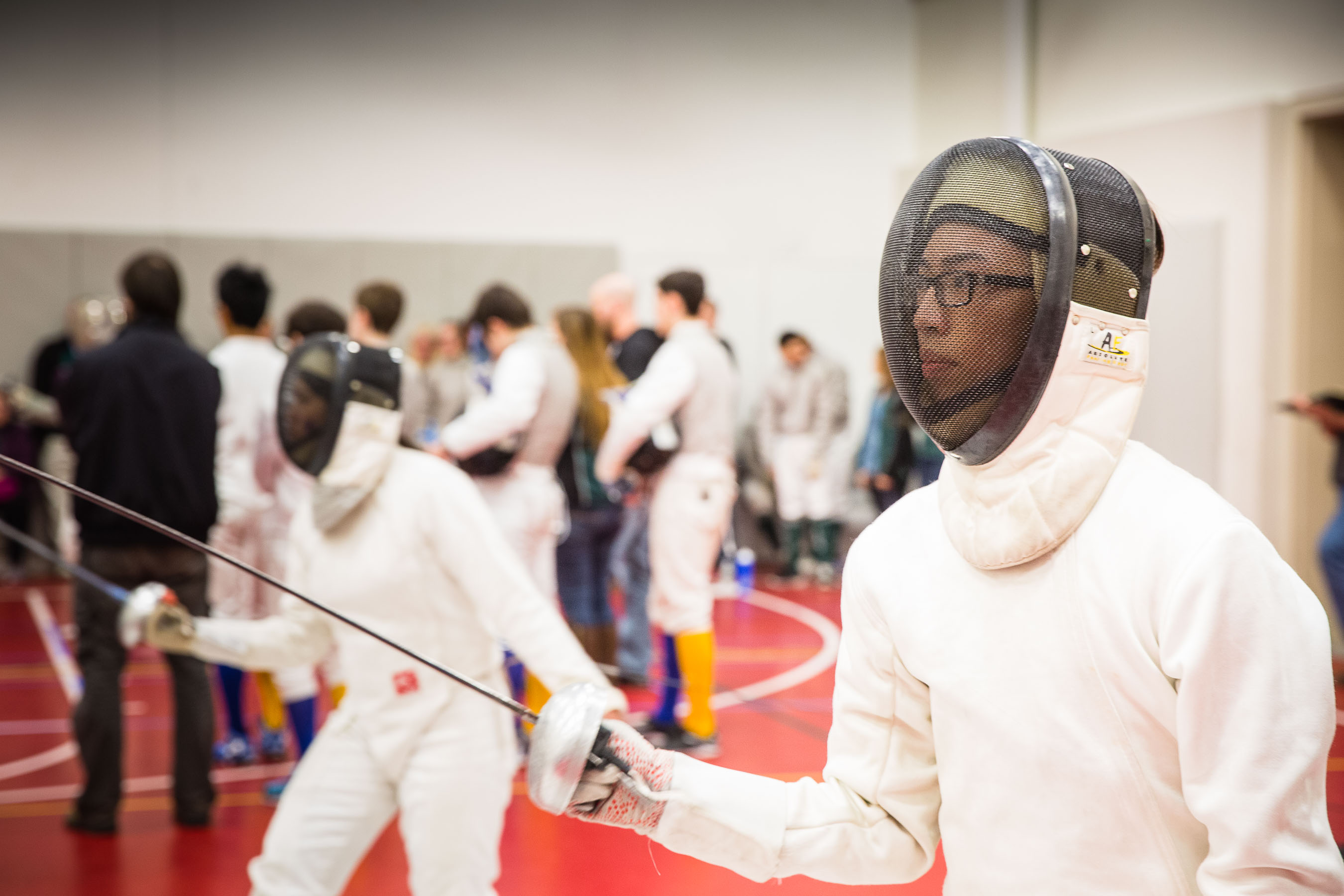 High school epee fencer