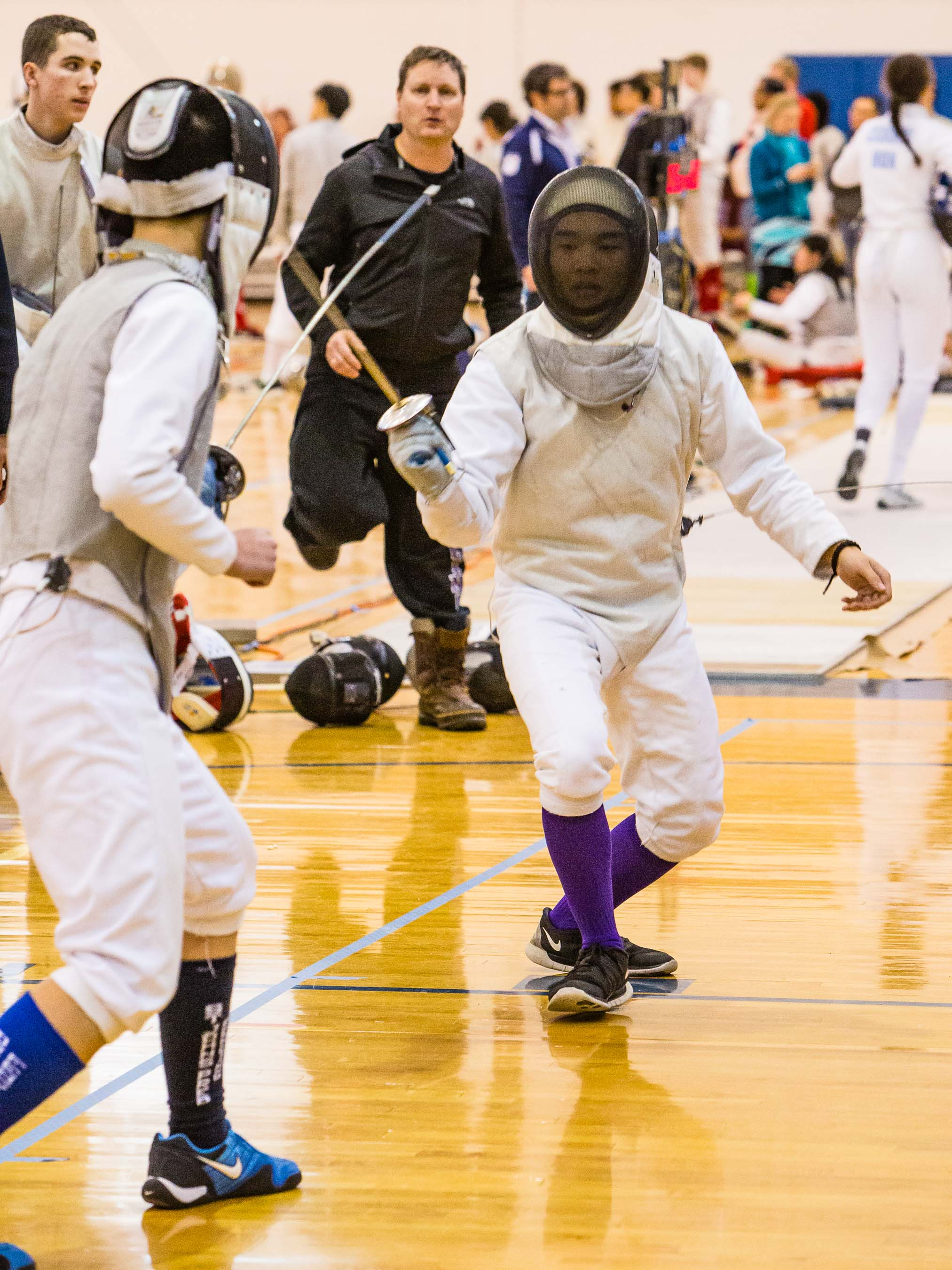 High school épée fencers
