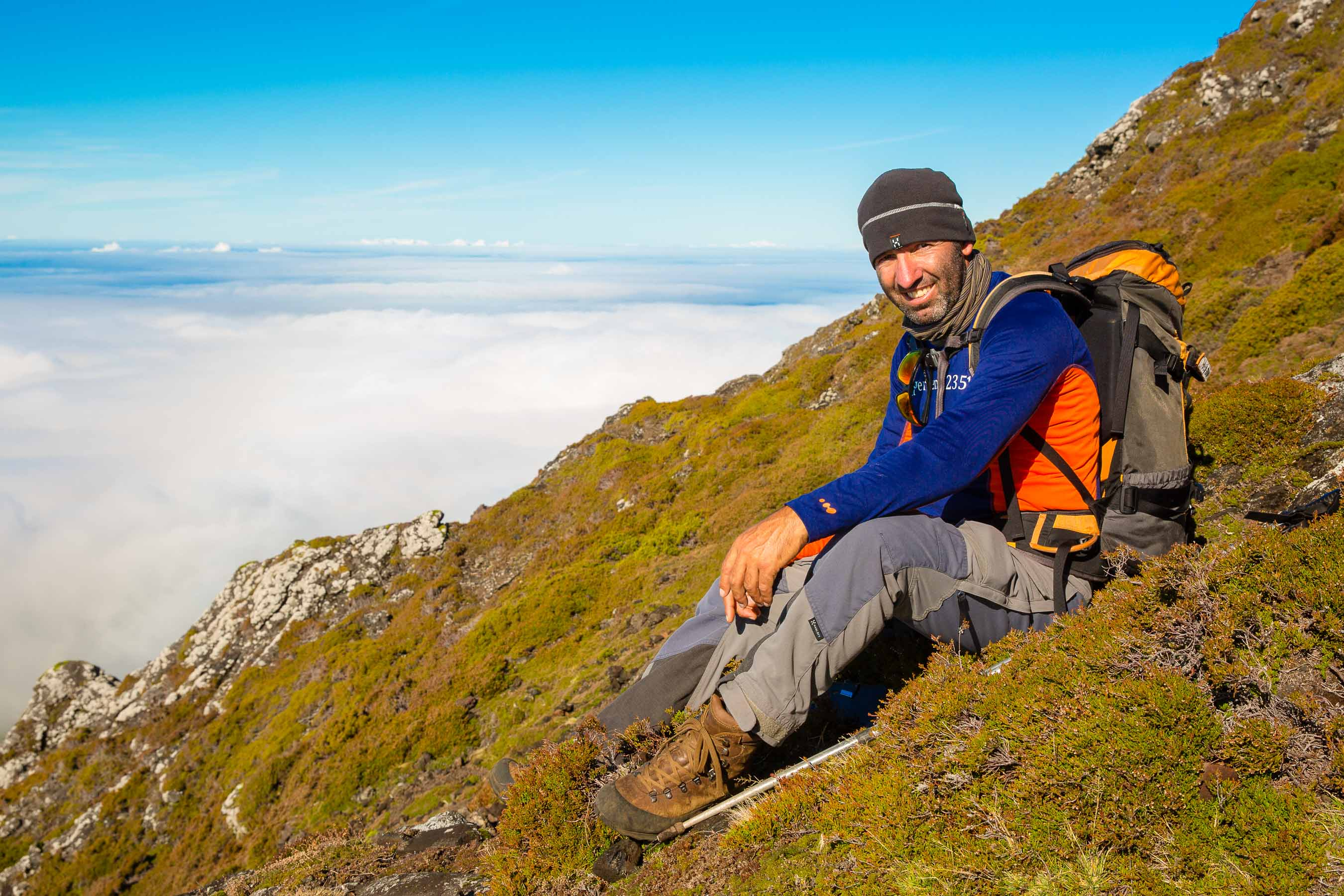 Portrait of guide on Mount Pico, Azores